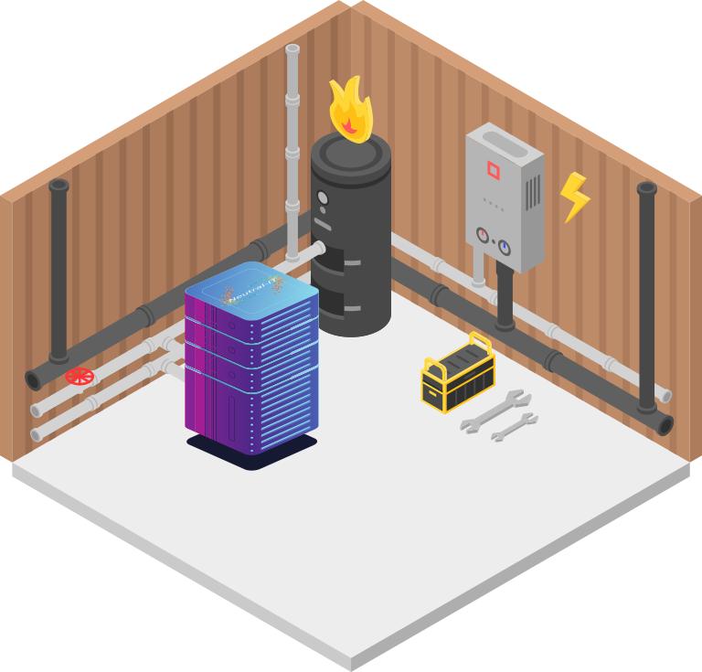 Datacentre à récupération de chaleur